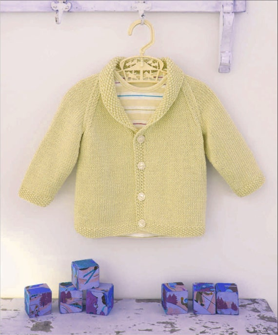 A Must Have Classic Boys Cardigan Knitting Pattern Pdf Etsy