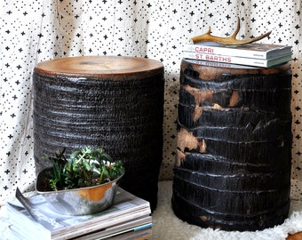 Tree Stump Side Tables / Coconut Tree Stumps / Side Tables / End Tables / Indonesian Side Tables / Wooden Stools / Wooden Side Tables