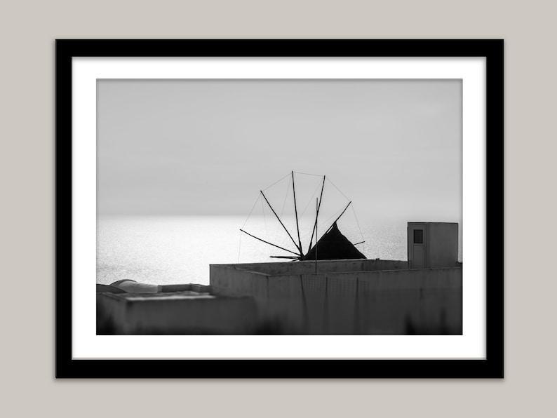 Greece photo download Greek Island image DIGITAL DOWNLOAD  Silver Mill Santorini Greece Greek Windmill image Oia Greece photograph