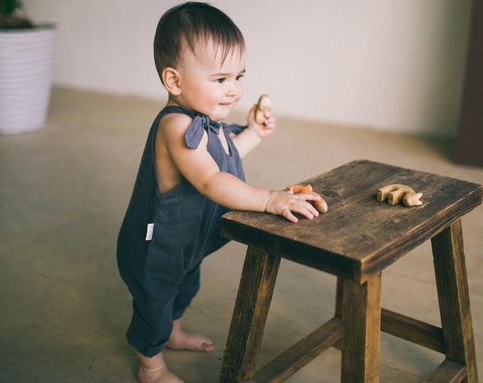 Linen baby jumpsuit