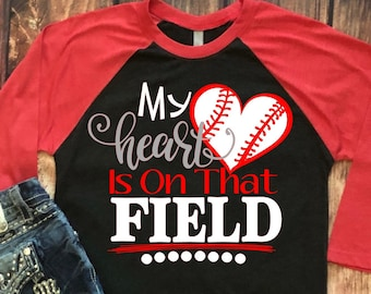 My Heart is on that Field Svg, Baseball Life Svg, Baseball Mom Svg, Sports Svg, Baseball Svg Dxf Png Jpeg