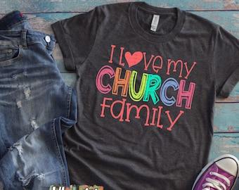 I Love My Church Svg Etsy