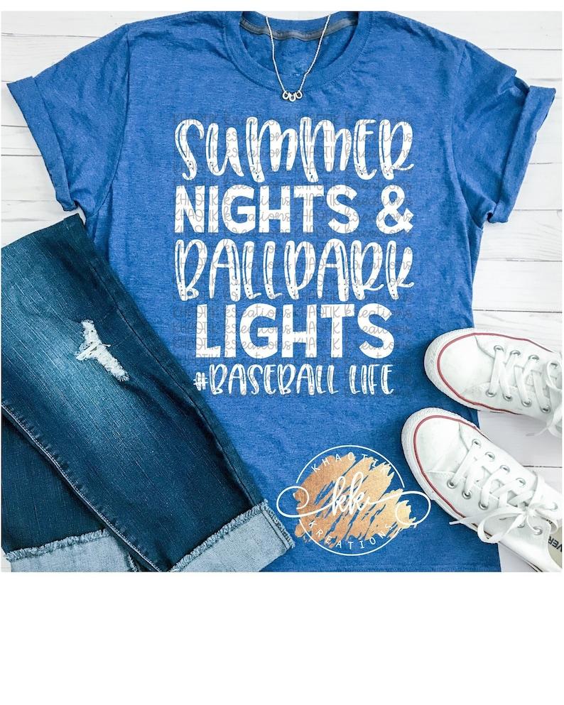 7d2d318b4cfb Summer Nights and BallPark Lights Svg Baseball Svg Baseball