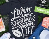 Football Mom SVG Football SVG Mom Life SVG Game Day Svg Football Png Digital Cut File for Circuit Silhouette Jpg Dxf Instant Download