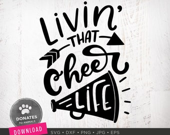 Cheer Life SVG | Cheerlife SVG | Cute Cheerleader Svg | Cheerleading Svg with Arrow Cheer Cut File Cricut Svg Instant Download