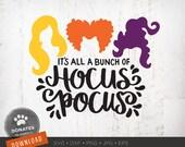 Hocus Pocus SVG Sanderson Sisters SVG Witches Hair Cute Halloween SVG Hocus Pocus Clipart Png Instant Download Cricut Svg Cut File