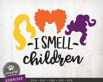 Sanderson Sisters SVG | I Smell Children Svg | Hocus Pocus SVG | Cute Halloween SVG | Hocus Pocus Clipart Png Instant Download Cut File