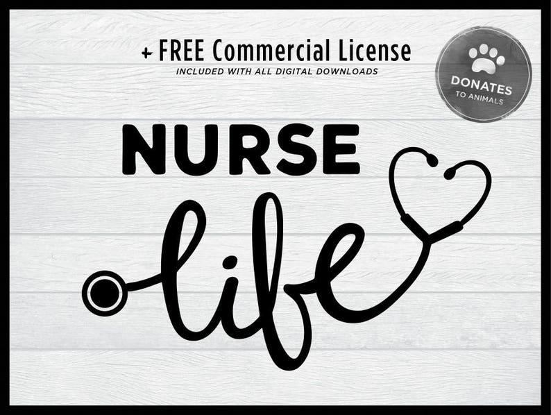 Nurse Svg Nurse Life Svg With Heart Cute Nurse Cut File Etsy