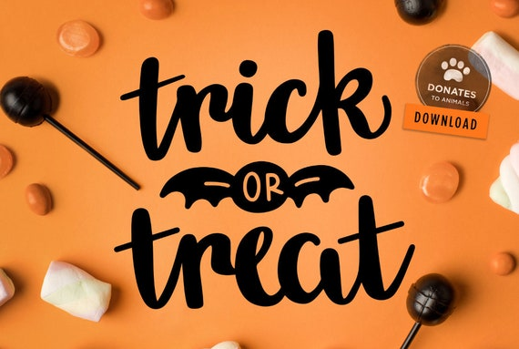Trick Or Treat Svg Trick Or Treat Clipart Halloween Svg Etsy