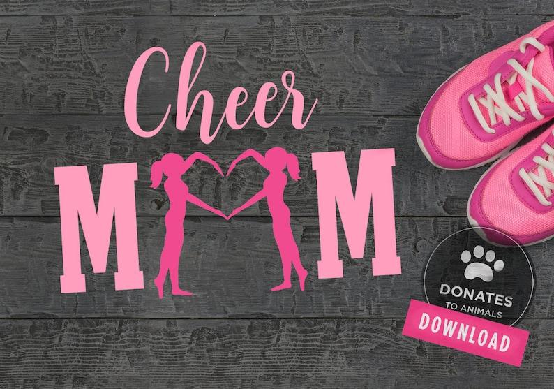 Cheer Mom Clipart Cheerleading Cutting File CheerMom SVG Cheer Mom SVG Cheer Cut File Cheer SVG Cut File Cheer Mom Clip Art