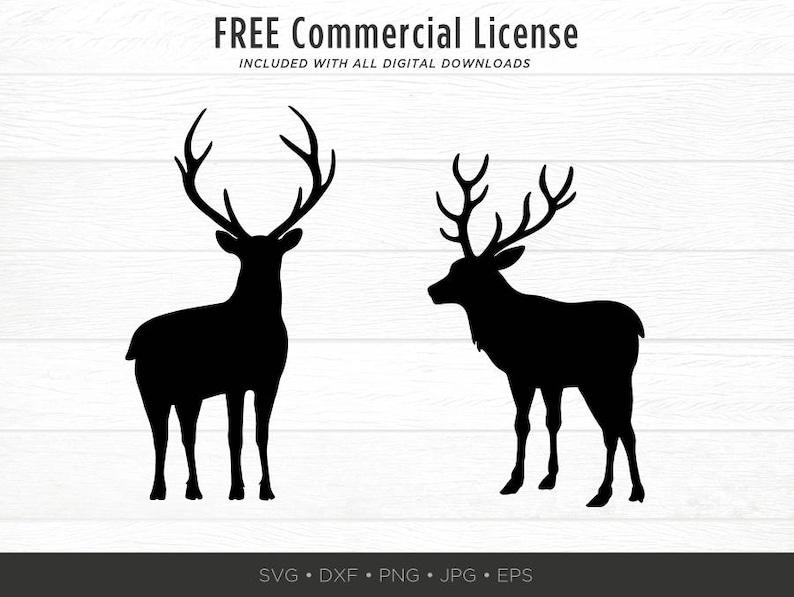 Reindeer Svg Deer Svg Svg Cut File For Circuit Dxf Reindeer Silhouette Svg Bundle Holiday Svg