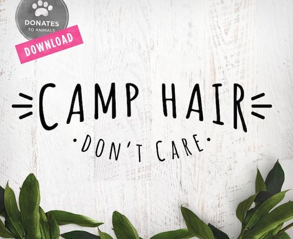Camp Hair Svg Happy Camper Svg Funny Camping Svg Camper Svg Etsy