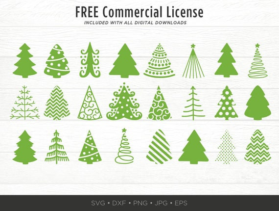 Christmas Trees Silhouette.40 Christmas Tree Svg Bundle Christmas Tree Silhouettes Svg Christmas Tree Cut File Bundle Christmas Clipart Pack Trees File For Cricut