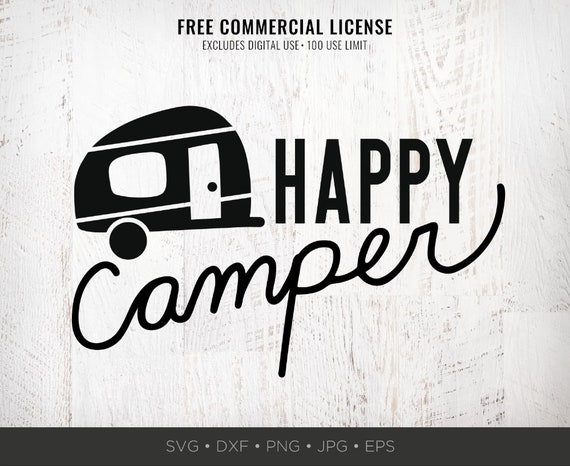 Happy Camper Svg Rv Svg Trailer Svg Funny Camping Svg Etsy