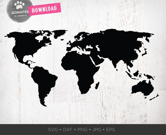 World Map SVG World SVG Travel SVG World Map Clipart Png