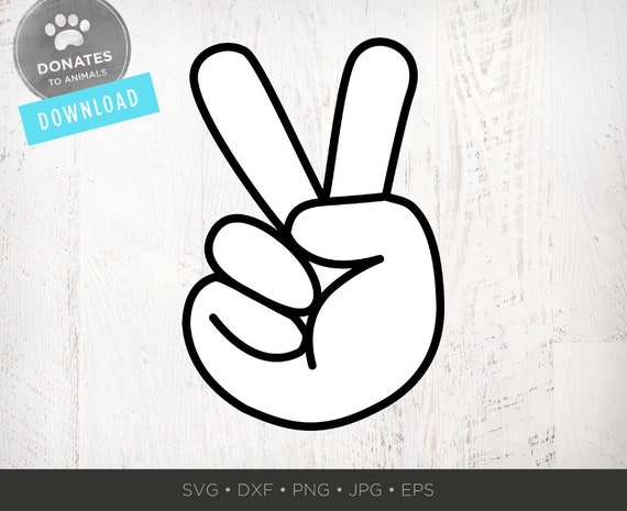 Peace Hand Svg Peace Sign Hand Symbol Png Clipart Peace Etsy