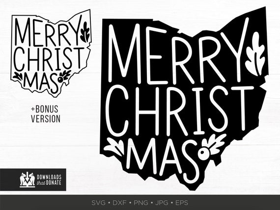 Ohio Christmas Svg Oh Christmas Ms Svg Ohio State Etsy