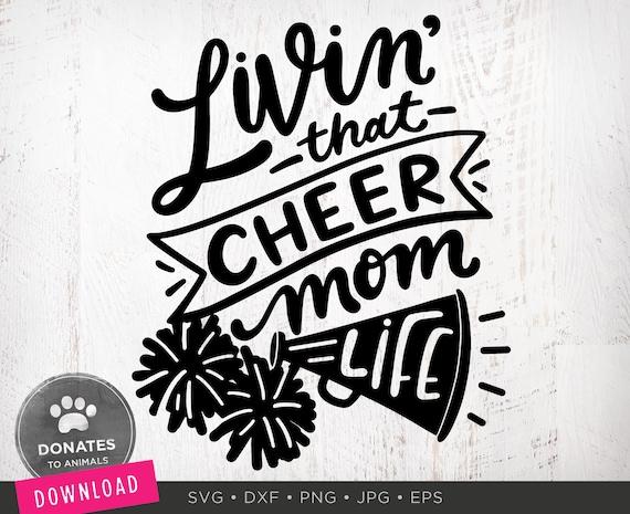 Cheer Mom Svg Cheer Svg Cheerleading Svg Football Svg Etsy