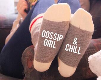 Gossip Girl & Chill Cabin Socks