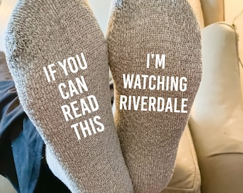 If You Can Read This I'm Watching Riverdale Calf Socks