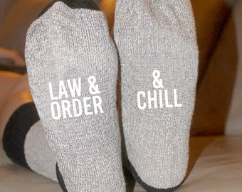 Law And Order & Chill Cabin Socks