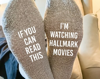 If You Can Read This I'm Watching Hallmark Movies Calf Socks