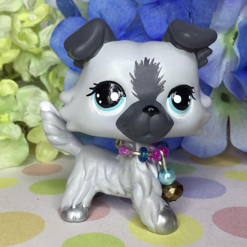 Littlest Pet Shop Cute, Charming COLLIE DOG, Ooak Custom, Nice!