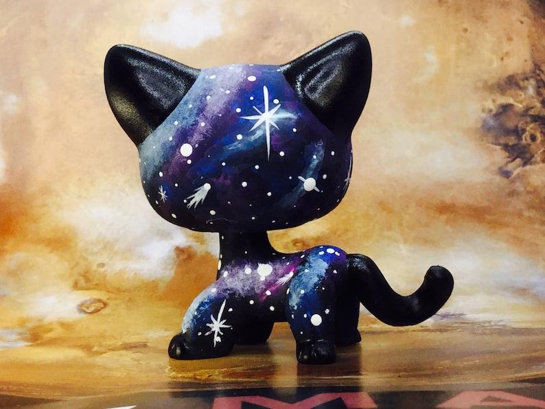Littlest Pet Shop Cute Galaxy Short Hair Nice! KITTY Cat Ooak Custom