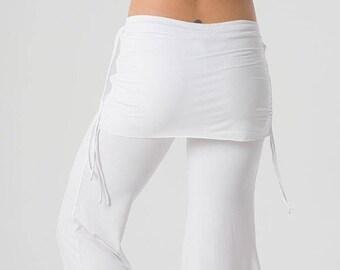 Kundalini White Flare Pants, Wide Leg Pants, Dance Pants, Wide Leg Pants Women, Yoga Pants