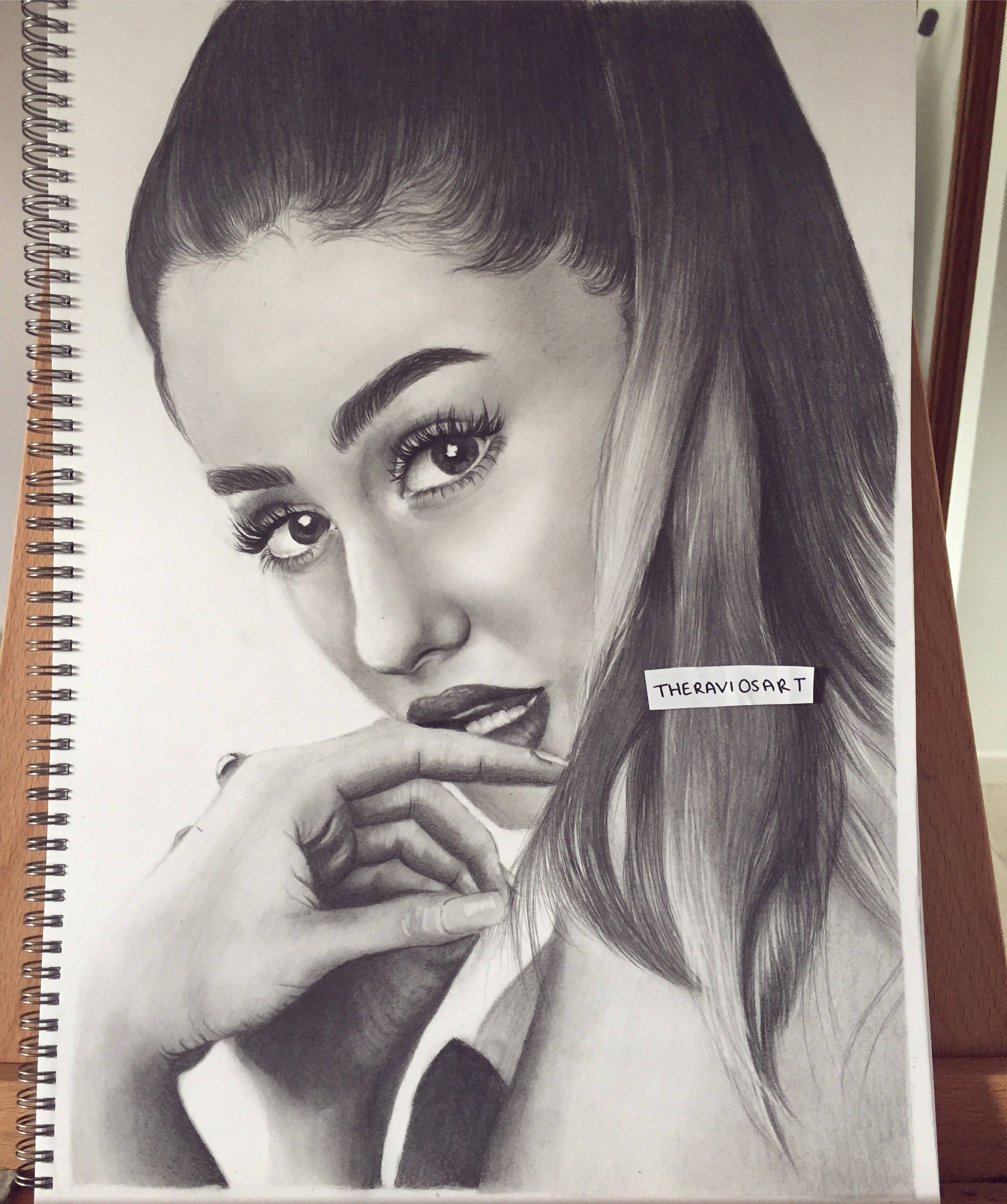 Ariana grande original porträt zeichnung a3 größe maßgeschneiderte portrait zeichnung detaillierte portraitkunst