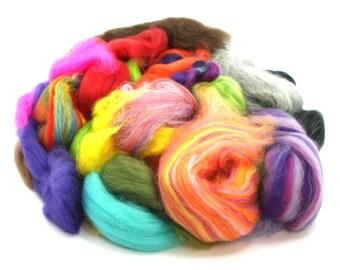Wool off cuts. Waste wool tops. Merino. British. natural. felting wool. 100g Bag