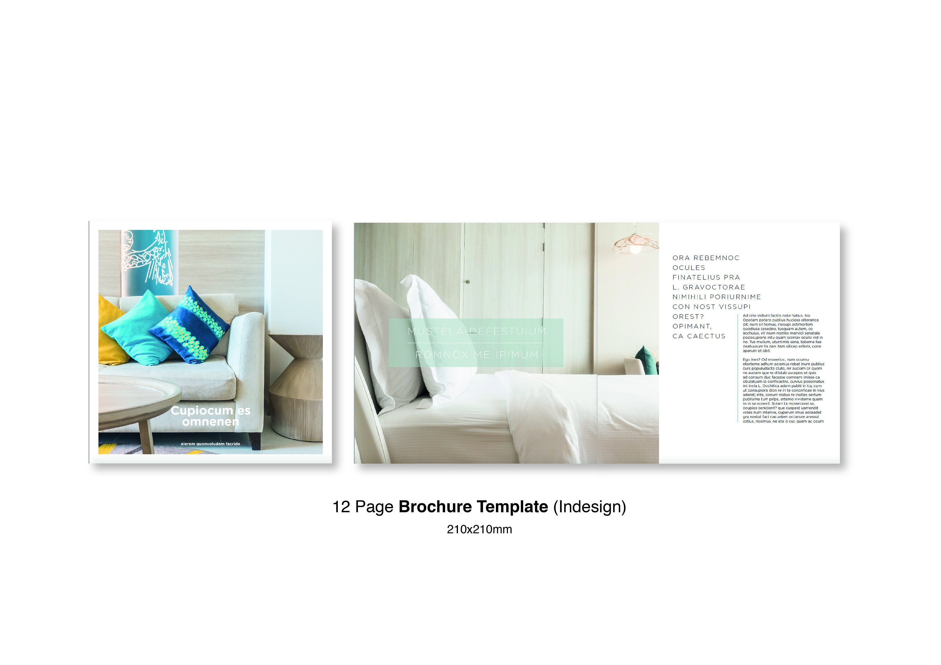 12 Page Brochure Design Template with a 5min Tutorial