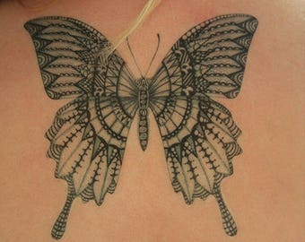 Large Butterfly Temporary Tattoo Kit - 2-3 days