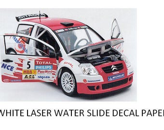White Laser Water Slide Decal Paper - A4 Transfer Paper