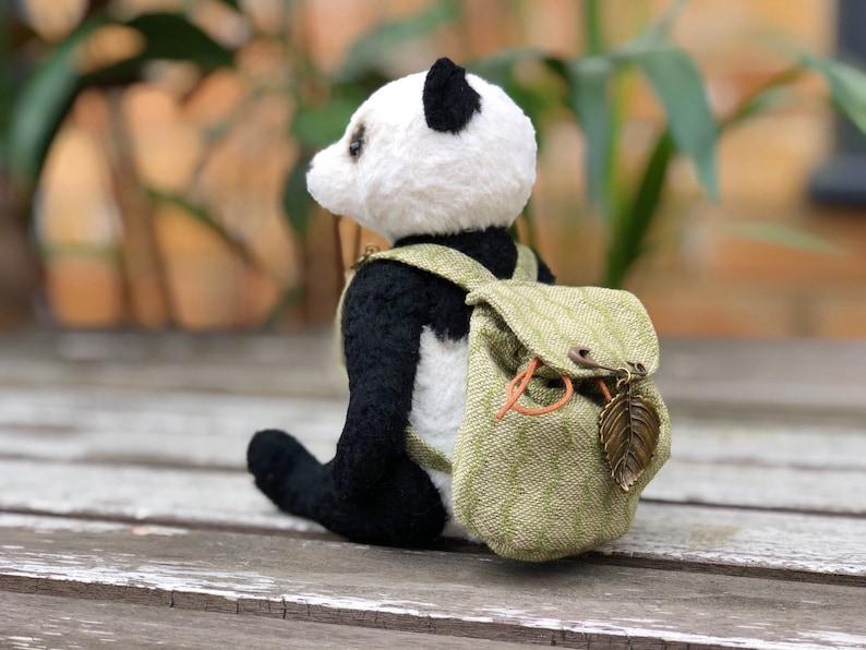 Collectible teddy for adults Stuffed toy Birthday gift Soft sculpture. Artist Teddy Bear Handmade teddy style Panda Bear