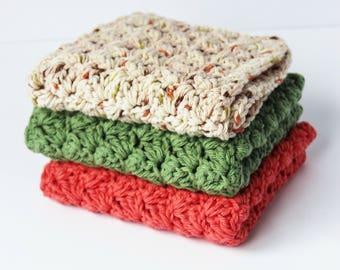 Coral Dishcloth Set