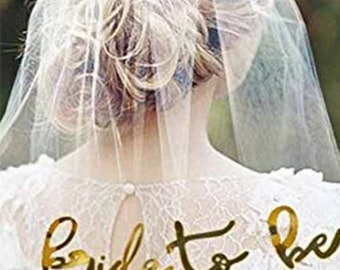 Hen party veil / gold bride to be veil