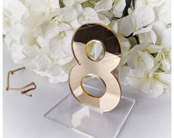 Wedding table numbers / gold table numbers / gold perspex table numbers / Wedding decor/ wedding table ideas / wedding table / top table