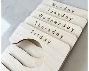 Wardrobe organiser / wardrobe organizer / wardrobe dividers / custom wardrobe dividers / Monday to Friday organisation / days of the week