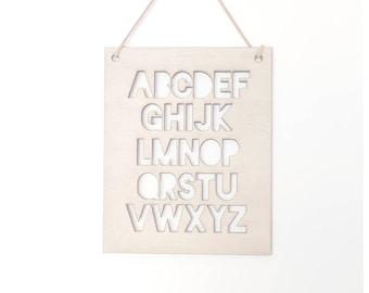 Alphabet wooden sign/nursery decor/hygge/wooden sign/ abc/a-z/alphabet/nursery sign/baby gift/birthday boy/birthday girl/birthday gift/gift