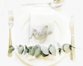 Bespoke personalised laser cut place settings for events and parties