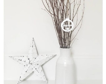 Personalised wooden Christmas tree decoration