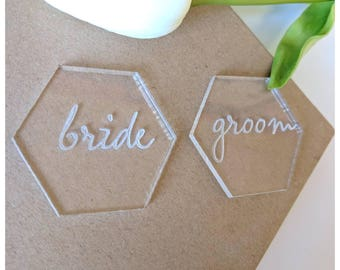 Hexagon acrylic Place name favours