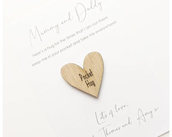 Pocket hug card / missing you card / isolation card / quarantine card / card for mum / card for grandparents / family cards