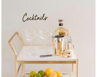 Cocktail bar wooden sign