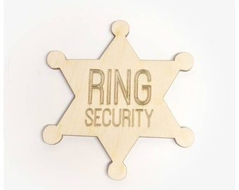 Ring security ring bearer paige boy badge