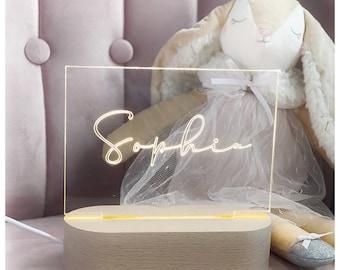 Custom calligraphy name night light | personalised USB night light for children | kids bedroom night light | pretty night light custom