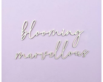 Custom quote wall art/ blooming marvellous wall art / wooden wall art / wooden quote / quote wall art / wall words /words for wall / quote