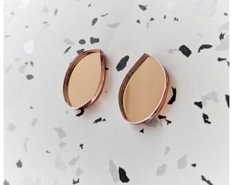 Droplet perspex earrings