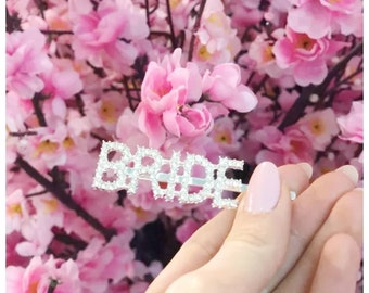 Bride diamante hair slide/ bride diamante hair clip / diamond hair clip/ bride tribe hair clip /bride to be accessories / bride accessory
